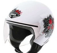 Шлем UVEX JET 150 POLYCARBON WHITE/RED MATT XS