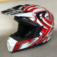 Шлем кросс ALLTOP MX-1 white/red M AP-867-whitered