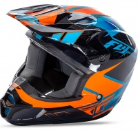 Шлем FLY Kinetic Impuls blue/blk/orange S 12667