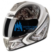 Шлем NITRO MECHANIKA white/silver S
