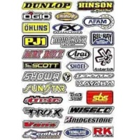 Наклейки FACTORY EFFEX SPONSOR STICKER KIT A