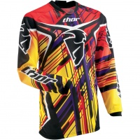 Майка кроссовая THOR JERSEY S12 PHASE SPIRAL RED XL