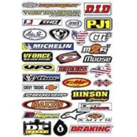 Наклейки FACTORY EFFEX SPONSOR STICKER KIT B