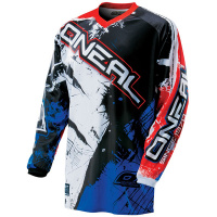 Майка кроссовая ONEAL Element Shocker blk/red/blue 2XL 0024S-506