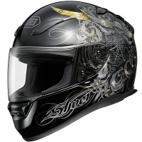 Шлем SHOEI RF-1100 WARLORD BLACK/GREY M