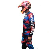Майка кросс Troy Lee Des SeAir Cosmic Camo M blue 302012303