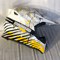 Шлем кросс MADHEAD wh/blk/yellow L 15885