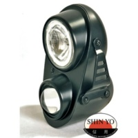 Фара SHIN YO Twin headlight FIRE, black, E-marked