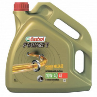 Масло моторное CASTROL 4T POWER1 10W40 4L 15688C