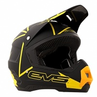Шлем кросс EVS NEON BLOCKS BLACK/YELLOW XL