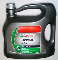 Масло моторное CASTROL 4T ACT>EVO X-TRA 10W40 4L